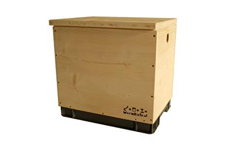 wurmkiste.at einfache Wurmkiste aus Holz als Selbstbauset (Wurmkomposter)