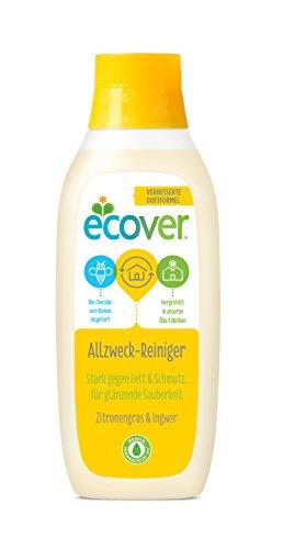 Ecover Allzweckreiniger Zitronengras & Ingwer (6x 750 ml), nachhaltiger Reinger und Fettlöser mit pflanzenbasierten...