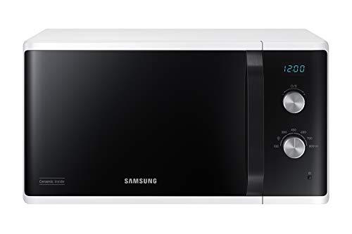 Samsung MW3500 MS23K3614AW/EG Mikrowelle/ 800 W/ 23 L Garraum/ 48, 9 cm breite/Kratzfester Keramik-Emaille-Innenraum/ 6...