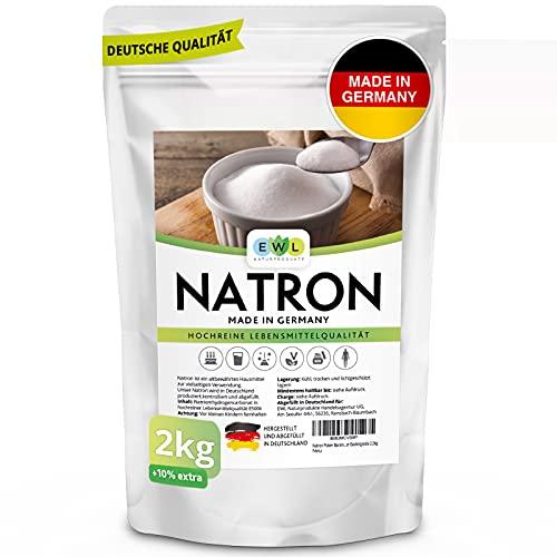 EWL Naturprodukte Natron Pulver Baking Soda 2200g extra XXL Vorteilspack Hochreine deutsche Lebensmittelqualität,...