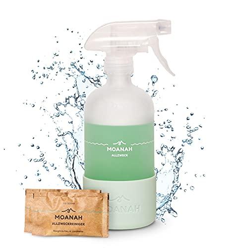 Moanah Allzweckreiniger-Spray nachhaltig   Sprühflasche und 2x 500 ml-Refills   Putzmittel   Universalreiniger  ...