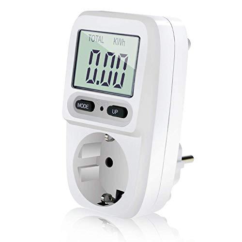 Zaeel Energiekostenmessgerät Stromkostenmessgerät Leistungsmessgerät, Energiekosten-Messgerät mit LCD Bildschirm,...