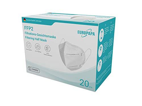 20er FFP2 Atemschutzmaske durch Stelle CE 2163 Zertifiziert und Dekra geprüft 5-Lagen hygienische Einzelnverpackung von...