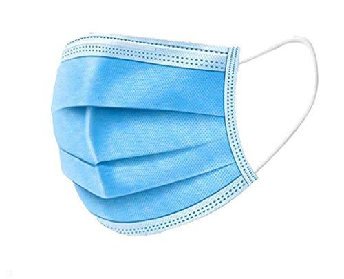 Einweg-Gesichts- und Mundschutz, 200 Stück dreischichtiges, schmelzgeblasenes Vlies, antibakterielle Mittel, dick und...