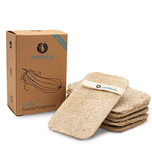 Chinchilla® Luffa Schwamm Küche | 6er Pack nachhaltige Küchenschwämme | waschbar & wiederverwendbar | Nachhaltige &...