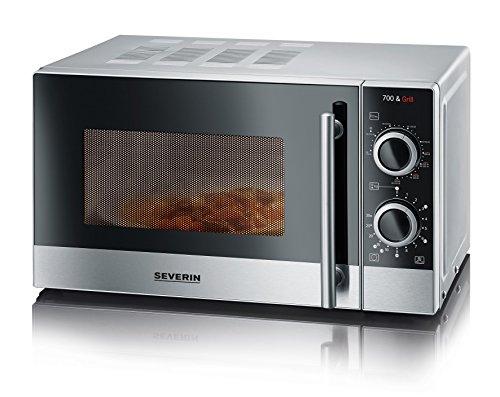SEVERIN 2-in-1 Mikrowelle mit Grill 700 W, Grillofen mit 9 Automatikprogrammen, Mikrowelle mit Grillrost und Drehteller,...