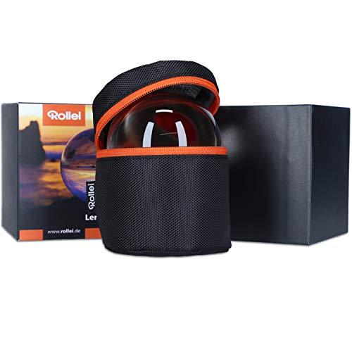 Rollei Lensball 90mm I Glaskugel I Kristallkugel I Foto-Kugel mit Aufbewahrungstasche & Mikrofaser Reinigungstuch für...
