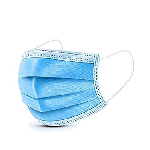 Veova 3 Lagig Mund Nasen Schutz Maske Gesichtsmaske Mundmaske mit Ohrschlaufen und Nasenbügel Versand Deutschland (50)