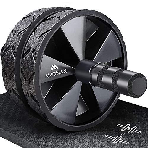 AMONAX Bauchroller, bauchtrainer ab Roller, bauchmuskeltrainer ab Wheel Set, mit Rutschfester, inkl. gut gepolsterter...