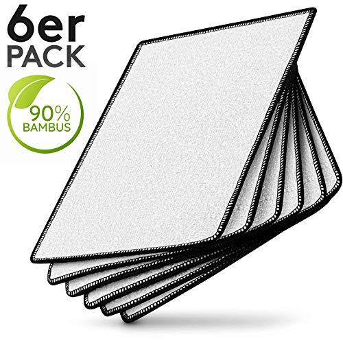 Meisterfaktur Premium Bambus Tücher [6 Stück] - 90% Bambus - Ideale Bambus Putztücher für Hochglanzküchen -...
