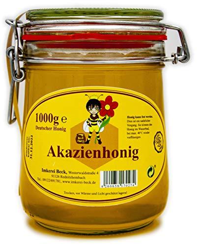 ImkereiBeck® - Echter Deutscher Imkerhonig im 1kg / 1000g Honigtopf - Honig vom Imker aus Bayern im wiederverwendbarem...