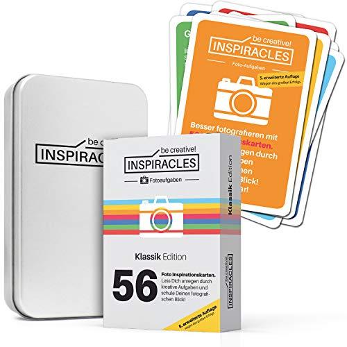 Inspiracles Foto Aufgaben – Inspiration & Fotografieren Lernen mit 52 Fotoaufgaben auf Aufgabenkarten & 10 Spickzettel -...