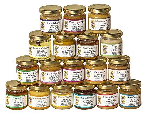 18x 50g Honig Probierset | Geschenkset – naturbelassen, Honig zum Kennenlernen, Kombination variiert (von Imkerei...