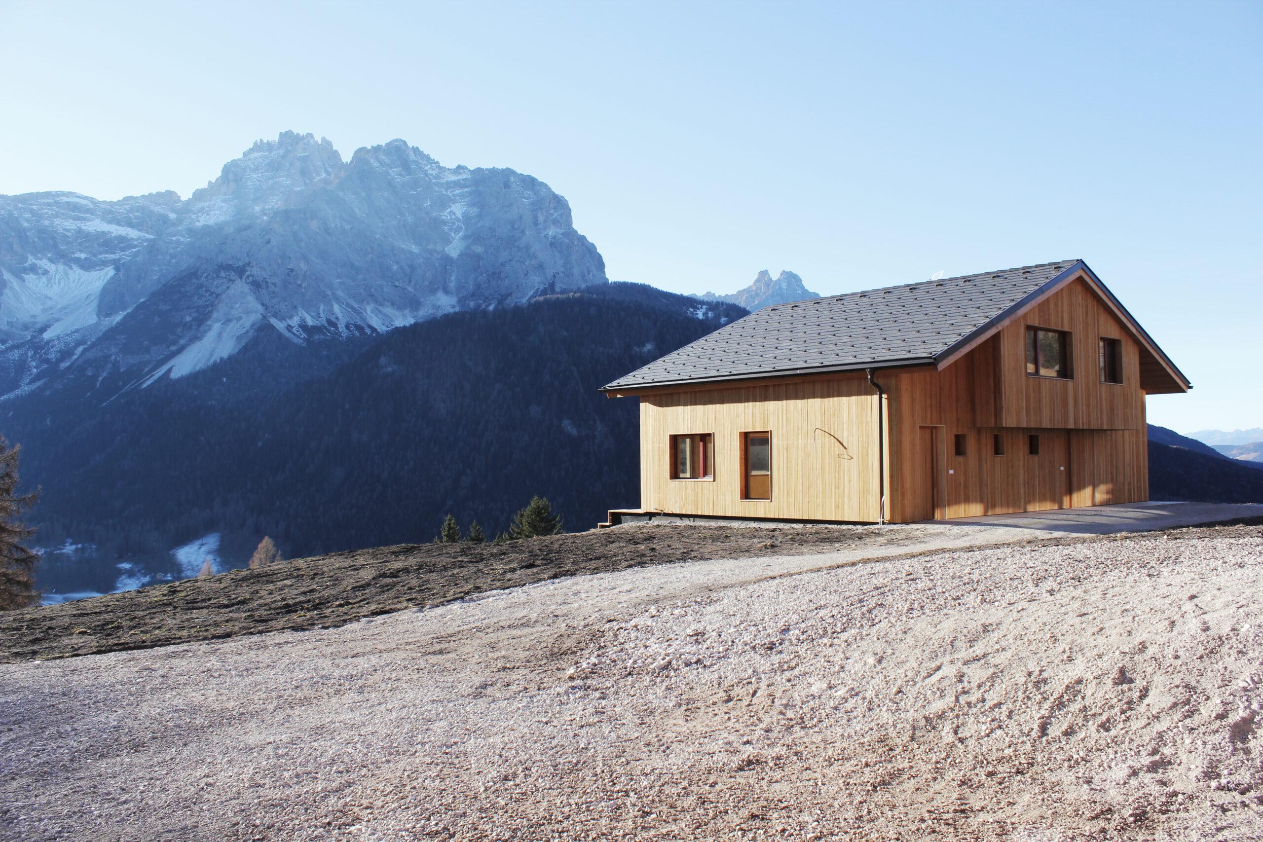 Das Holzhaus ist der Inbegriff des nachhaltigen Bauens. Foto Eugen Happacher